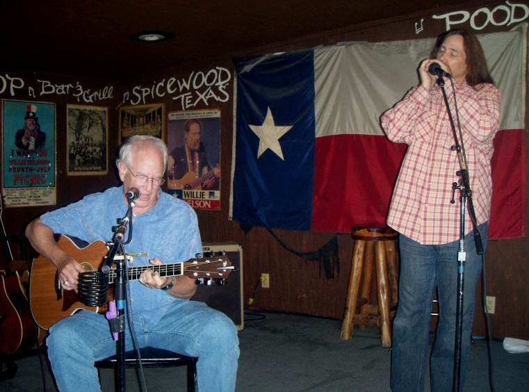 Bill Reid and Mark Allan Atwood at Poodies Hilltop, Austin, TX
