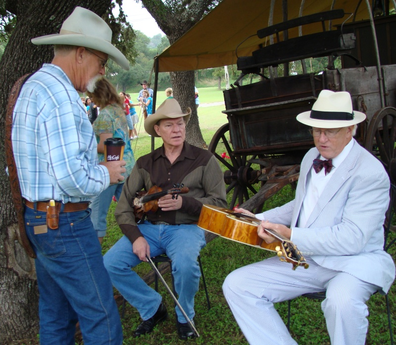 Bill Reid, Ron Knuth, Duke Davis at the Kerrville Texas Heritage Music Festival
